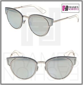 2af29667d50 Image is loading CHRISTIAN-DIOR-SCULPT-Palladium-Silver-Mirrored-Cat-Eye-