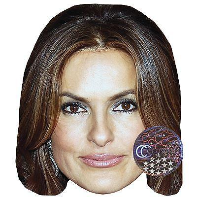 Mariska Hargitay Celebrity Mask Card Face and Fancy Dress Mask