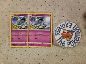 Pokemon-TCG-2x-Nidorina-55-181-Uncommon-Mint-Tag-Team-Up-Psychic-Type-English