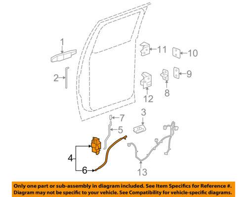 GM OEM Rear Door-Lock Actuator Motor 25876397