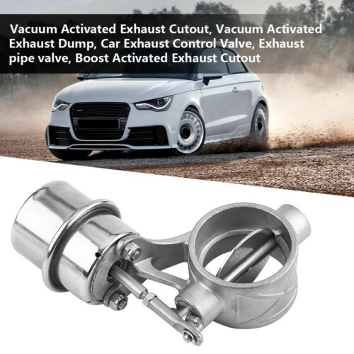 2/'/' 51MM Stainless Steel Vacuum Activated Exhaust Cutout Dump Valve Open Style