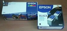 Cartouche d'encre EPSON C13T005 couleur et C13T003 Noir (x2)