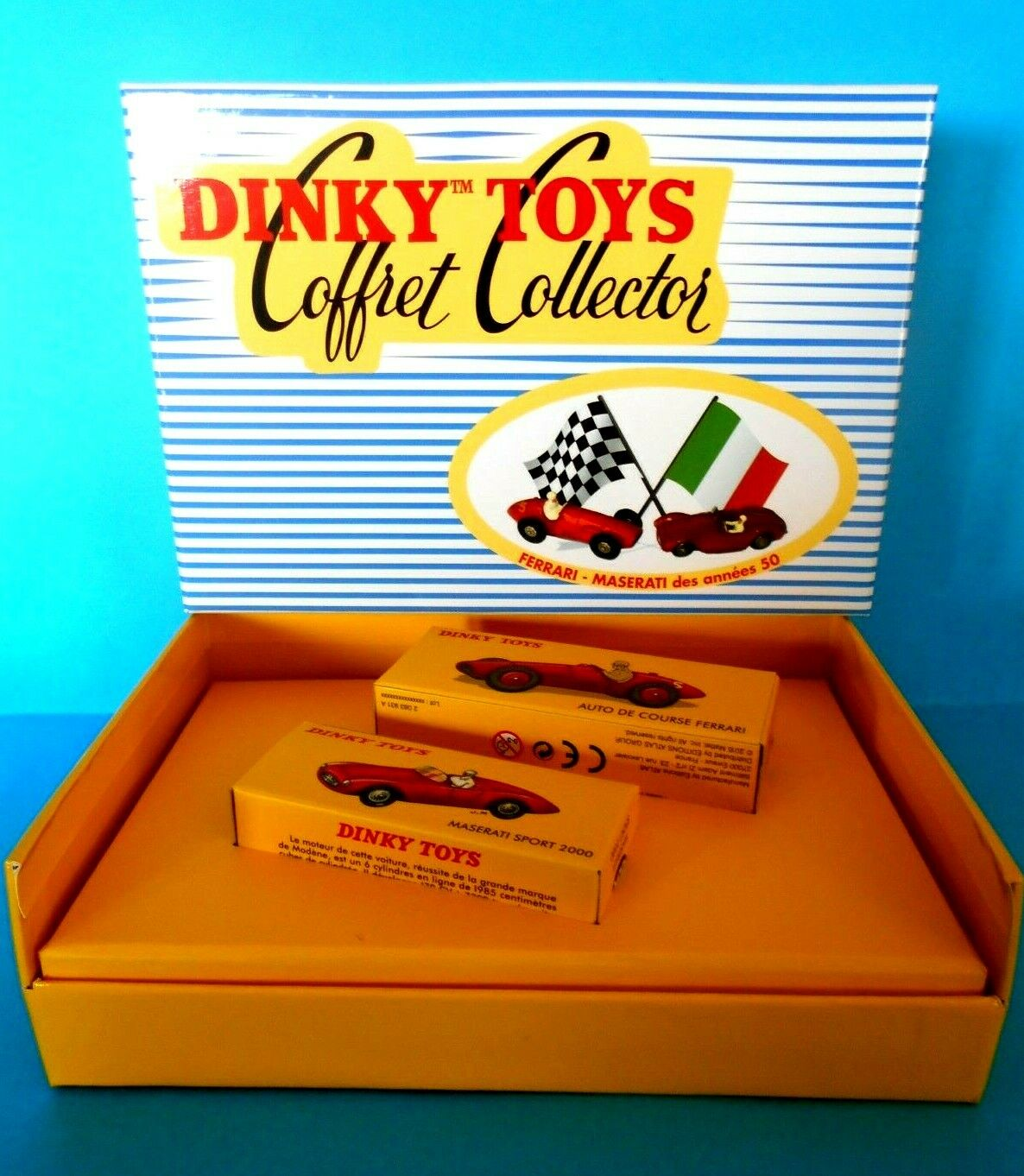 DINKY TOYS  COFFRET CF 01 FERRARI - MASERATI  2083931  ATLAS EDITIONS 1 43