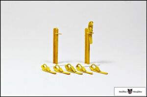 Fertigmodell Spur 2// Spur G Hemmschuhständer mit Zubehör