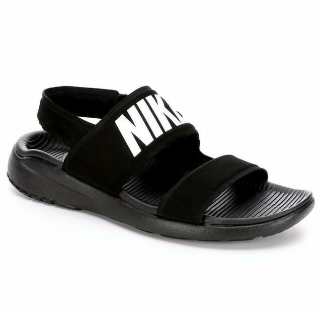 grand choix de 959c8 a0a2a Nike Tanjun Sandal Womens 882694-001 Black White Ankle Strap Sandals Size 9
