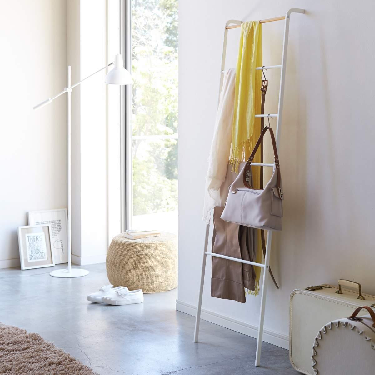 yamazaki deko leiter handtuchhalter kleiderleiter dekoleiter weiß | ebay