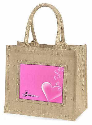 Rosa Herzen 'Forever' Stimmung Große Natürliche Jute-einkaufstasche Chris,