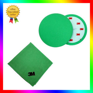 1 x 3M Perfect-it III 50487 Fast Cut Plus Compounding Green Pad 150mm + 3M cloth