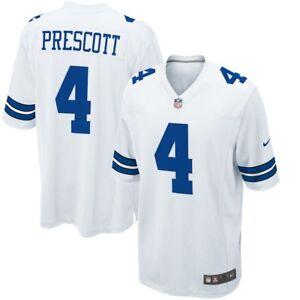 68d233c3652 DAK PRESCOTT NFL 2019 DALLAS COWBOYS MENS NIKE WHITE GAME PRINT ...
