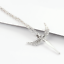 Solid-925-Sterling-Silver-Angel-Paved-CZ-Wing-Feather-Cross-Pendant-Necklace thumbnail 3