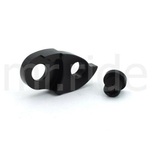 Bike Bicycle Rear Derailleur Hanger extender 10//11 Speed Tail Hook Black//Red