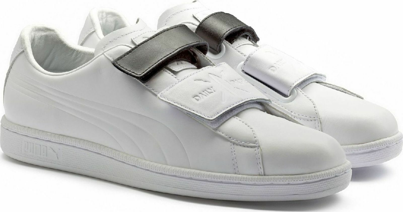 NIB MEN'S PUMA WHITE LEATHER MATCH STRAP LOW TOP DAILY PAPER 8, 9, 10, 11 149Price reduction
