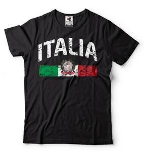 Mens-T-shirt-Italia-Distressed-Flag-Soccer-Fan-Italy-Italian-Pride-Heritage-Tee