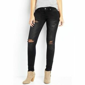 8f7e42735b3 Image is loading Maurices-Denim-Flex-jeggings -pants-skinny-jeans-destruction-