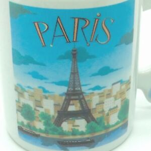 PARIS-Coffee-Mug-FRANCE-Eiffel-Tower-Shaped-Handle