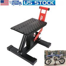 Motorcycle Dirt Bike Lift Jack Hoist Stand Table 970 Lbs Lift Height Adjustable