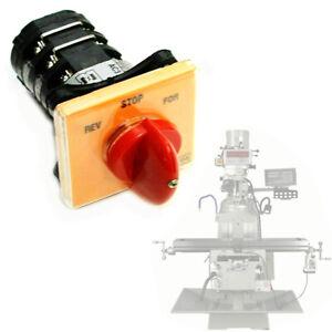 Bridgeport Milling Machine Import Forward Reverse Speed Vertical MilL Switch