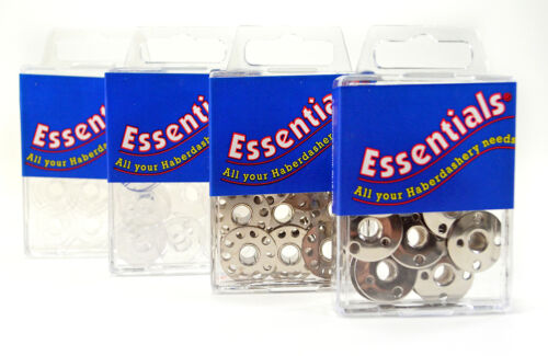 8 Pack Essentials Metal and Plastic Sewing Machine Bobbins 15k and 66k Types