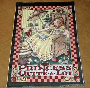 Mary-Engelbreit-Princess-of-Quite-A-Lot-Crafters-Tapestry-Wall-Fabric-Remnant