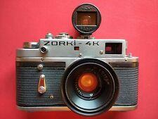 Zorki 4K Rangefinder Camera w/ Jupiter 12 35mm (zeiss copy) lens, CLA'd + Finder
