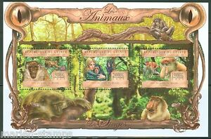 Guinee-2013-LES-ANIMAUX-SINGE-feuille-neuf-sans-charniere