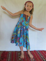 Vetement Ethnique Enfant - Robe Bobbin Bleue