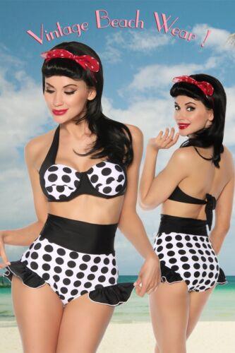 Samegame Retro Push up Bandeau Bikini Vintage Swimming costume Set