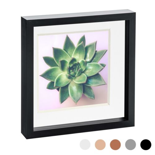 10 x 10 3D Box Frame Photo Picture Deep Display Shadow with 8 x 8 Mount