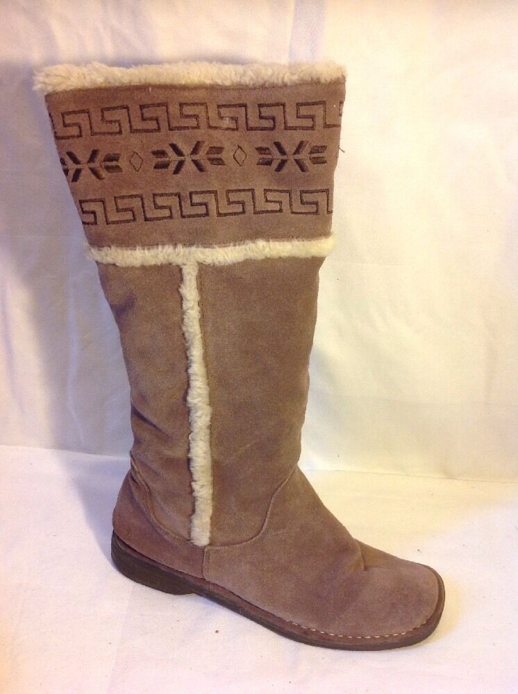 Dgoldthy Perkins Brown Knee High Suede Boots Size 39