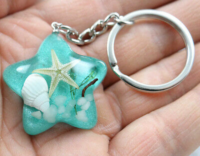 1PC/5PC/10PC fashion pentacle Starfish shell cool grass  key chain