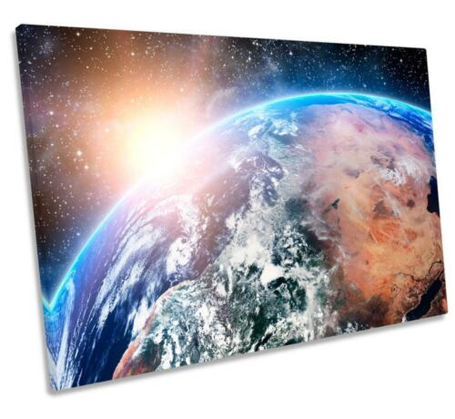 Planet Earth Space Astronomy CANVAS WALL ART DECO LARGE READY TO HANG all sizes
