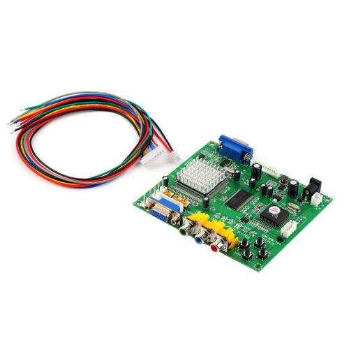Arcade Game RGB//CGA//EGA//YUV to VGA HD Video Converter Board HD9800//GBS8200 lsL0