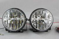 "UNIVERSAL 3"" LED ROUND FOG LIGHTS DRIVING LAMPS HARNESS KIT TRUCK CAR"