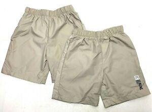 2-Boys-Performance-Khaki-Shorts-Size-5-For-Dress-and-Swim-Shorts-Elastic-Band