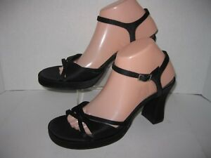 330348061784 Details about fashion bug womens size 9m black fabric platform 3 3 4