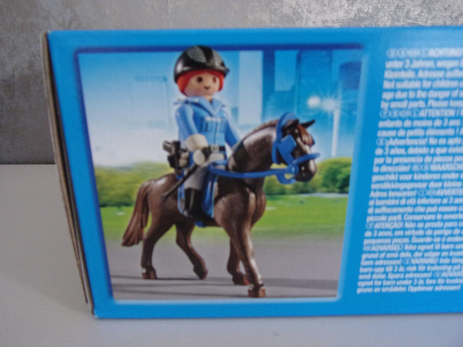 Neu /& OVP Playmobil City Action 6875 Berittene Polizei mit Anhänger