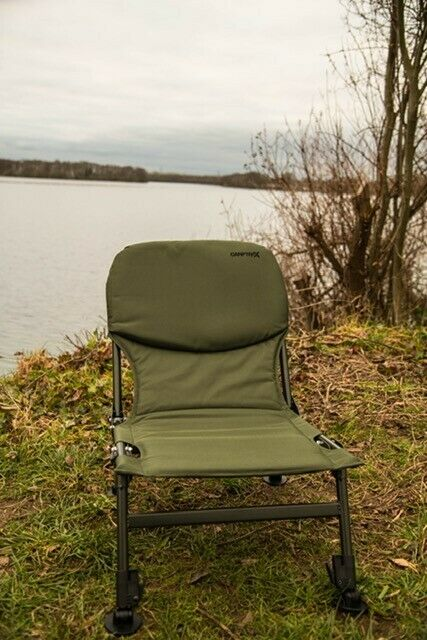 Portable Folding Carp Fishing Chair Camping Heavy Duty 4 Adjustable Legs SALE