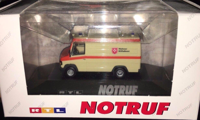 Herpa Modèle Spécial-MB t2  Maltais Aschaffenburg RTL d'appel d'urgence , h0 1 87, Neuf  neuf dans sa boîte