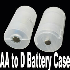 8pcs 2A AA to D Size cell Battery Converter Case Adapter Holder Shell Cover YG