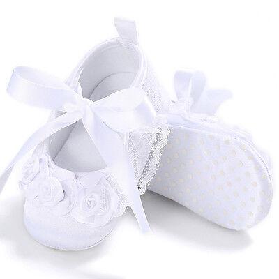 Kids Girl Crib Shoes Newborn Flower Soft Sole Anti-slip Baby Sneakers Prewalker