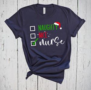 Naughty Nice Nurse, Cute Christmas Shirt, Holiday Shirt, Nurse Gift, Nurse Shirt