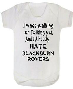 Burnley Dad Grandad Love Baby Grow Bodysuit Claret blue text football fan