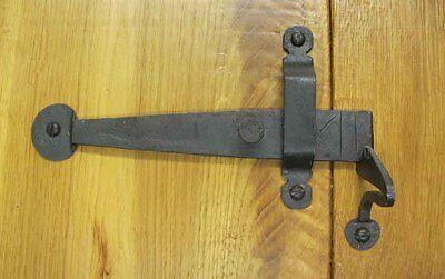 CUPBOARD DOOR LATCH - HAND FORGED BLACK ANTIQUE IRON