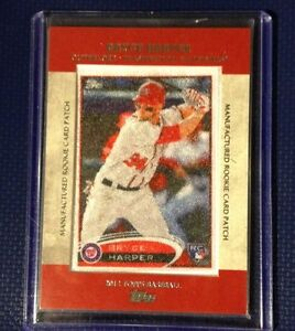 BRYCE HARPER 2013 Topps Rookie 2012 Silk Patch #RCP-24 NATIONALS HOT PLAYER