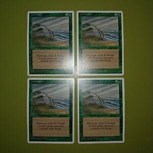 Hurricane-x4-Fourth-Edition-4th-Magic-the-Gathering-MTG-4x-Playset