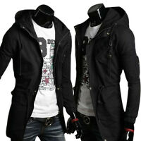 PJ Design Fashion Mens Casual Coats Hooded Jackets Hoodies Long Parka Style Tops