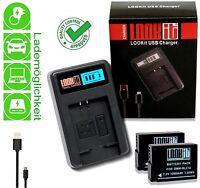 Lookit Lcd Lader + 2x Lookit Blc12 Für Panasonic Dmc Fz2000 Fz300 Dmc Fz1000