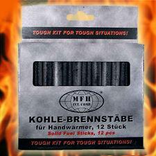12 Brennkohle Kohlestifte Handwärmer Taschenwärmer Taschenofen Kohlewärmer Kohle