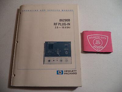 Operating /& Service Manual HP Hewlett Packard 11869A RF Plug-In Adapter