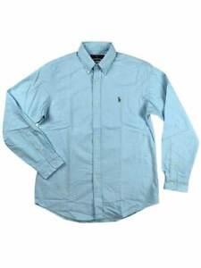 Ralph-Lauren-Polo-Mens-Oxford-Multi-Colored-Pony-Logo-Shirt-Blue-New